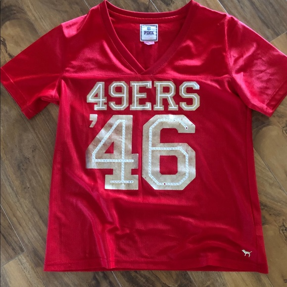 quality design 78f87 49864 victoria secret pink 49er jersey